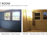 Guest Room Before & After Picture